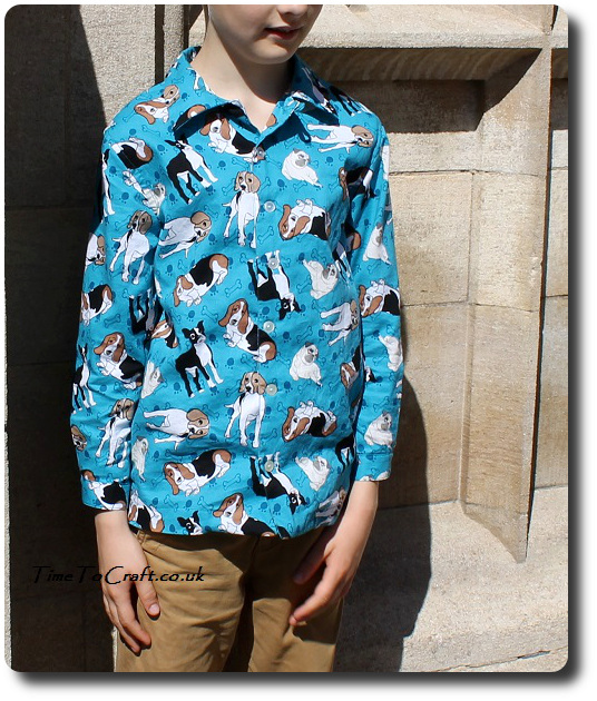 Simplicity 4760 boys shirt matching front