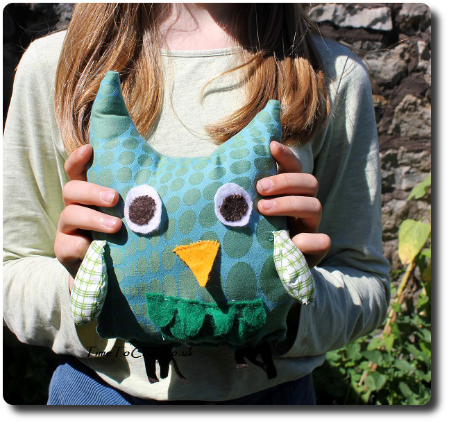 making an owl softie 5