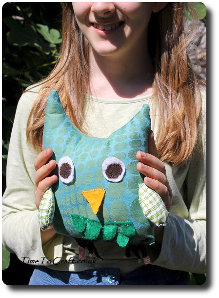making an owl softie