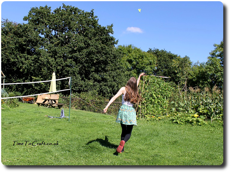 playing badminton in the garden 2