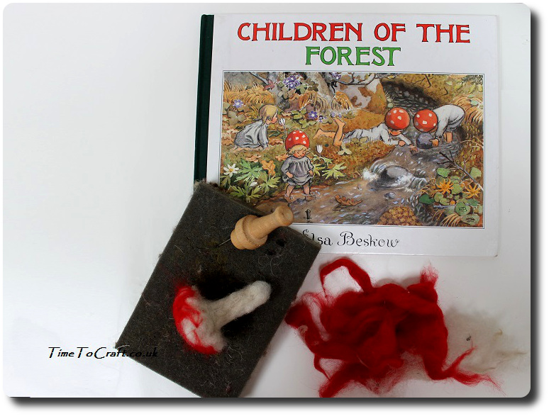 children-in-the-forest-needle-felted-toadstool