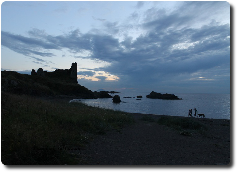 dunure-beach-evening