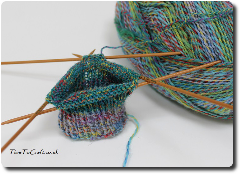sock-knitting