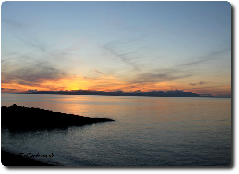 sunset towards Arran