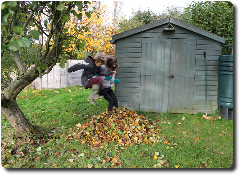 jumping-on-the-pile-of-leaves