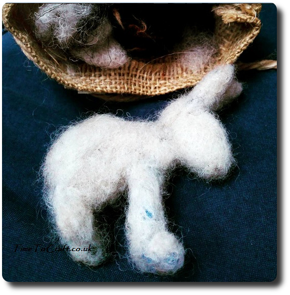 making-a-needle-felted-snow-hare