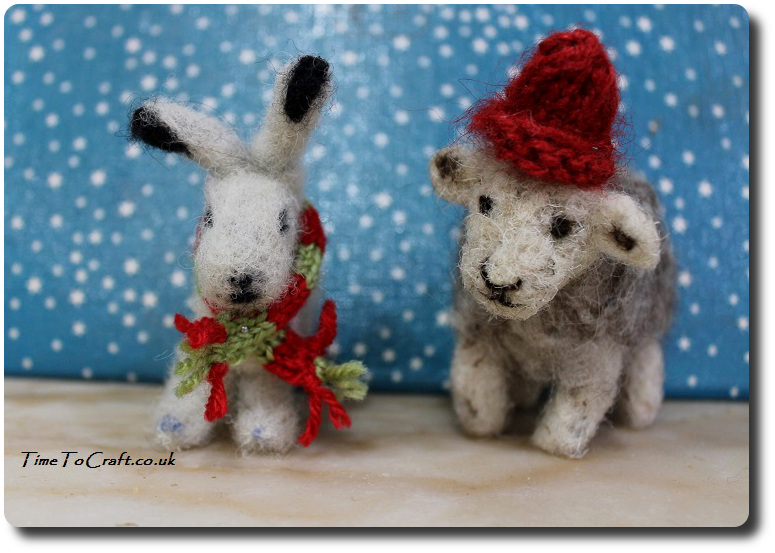 needle-felted-snow-hare-and-herdwick-sheep