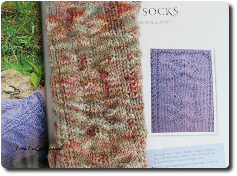 Knitting Stitch Patterns For Variegated Yarn : Yarn Along: Knitting imperfect socks